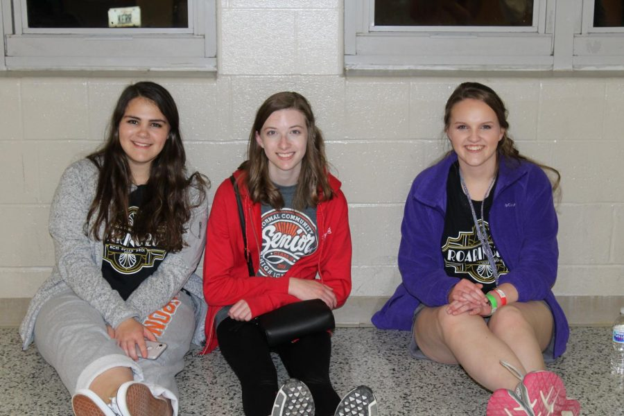 Students talked to their friends while waiting for the next round of trivia to begin.