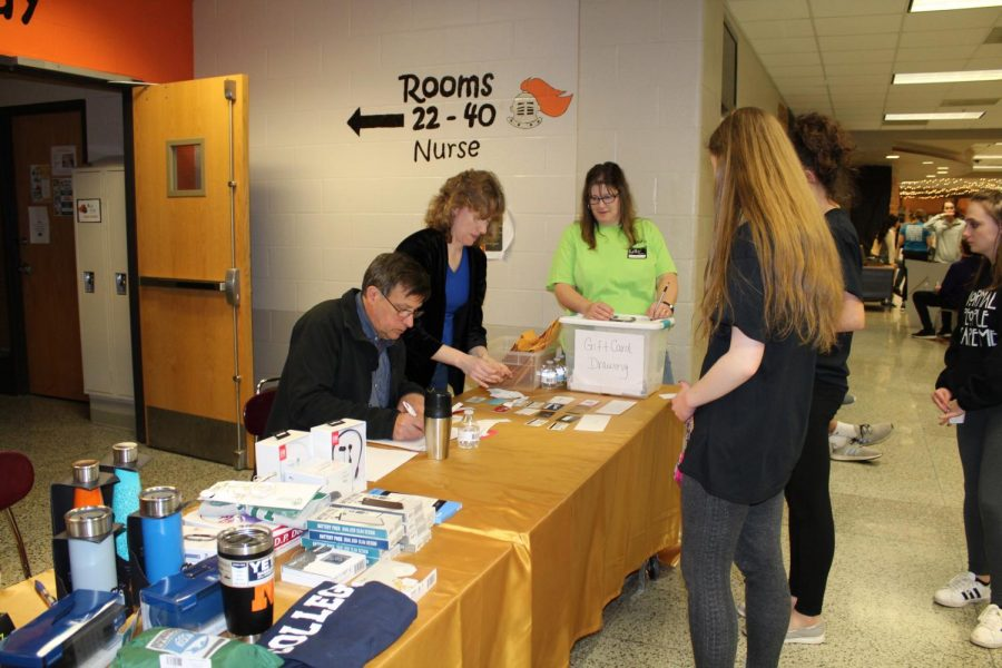 Students claimed prizes from gift cards to mini-fridges and Apple watches.