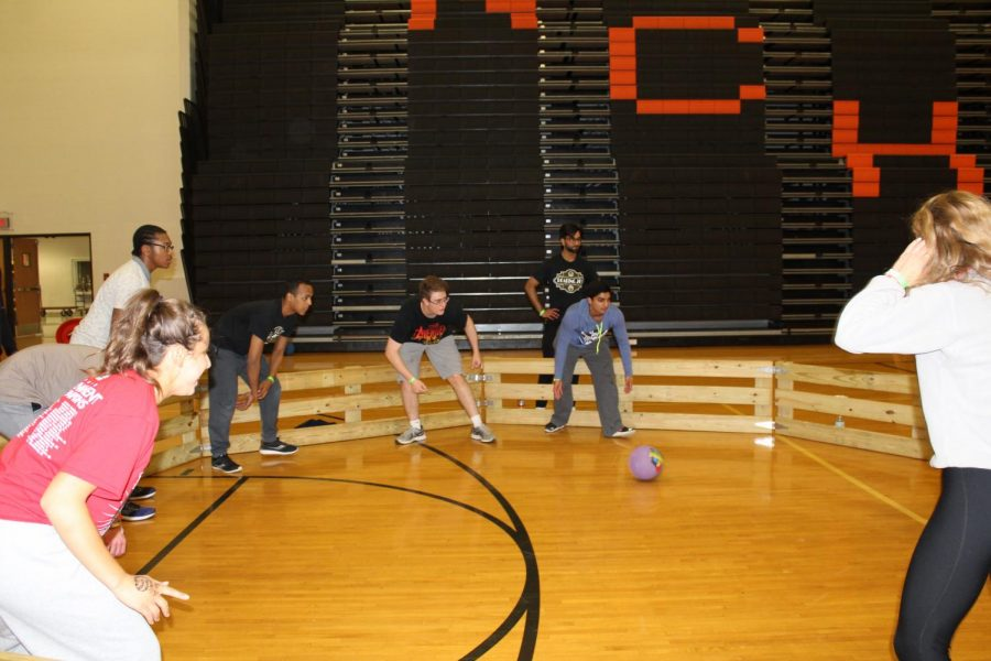 Gaga ball was one of the most competitive events at after prom.