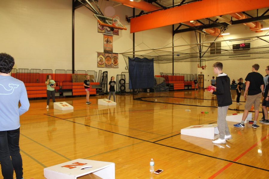 Students were also able to shoot hoops with one another in the Small Gym.