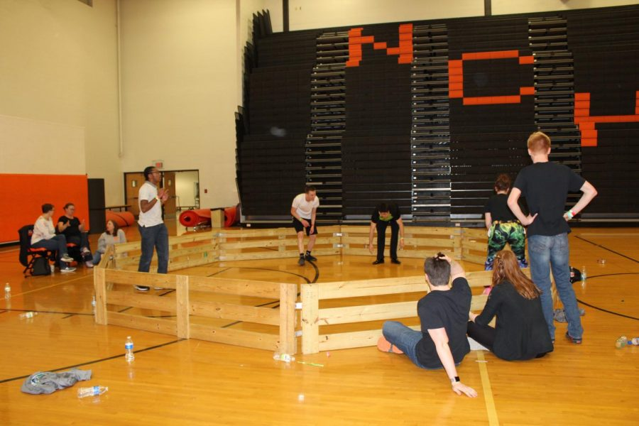 Students also played knockout and shot hoops.