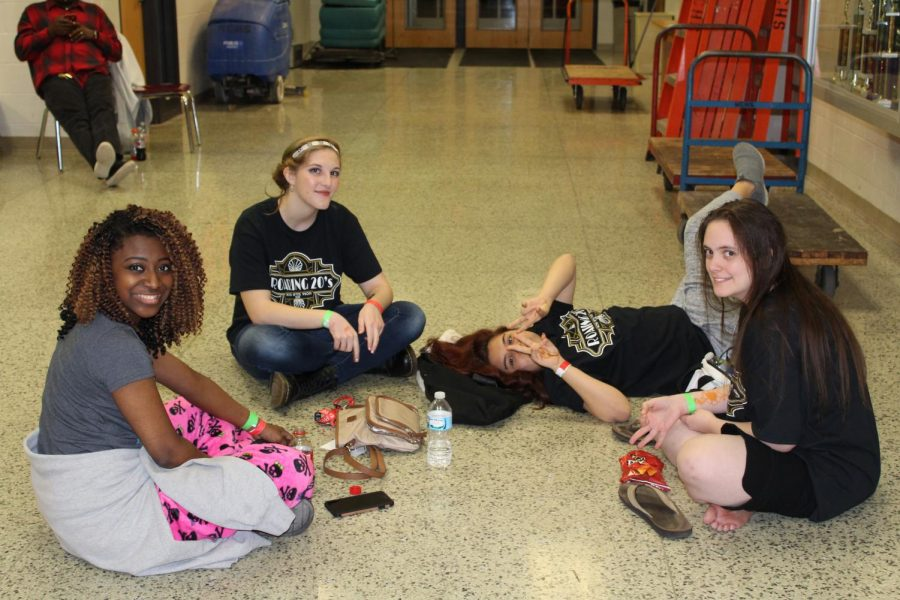 Students sat down and just enjoyed time with one another.