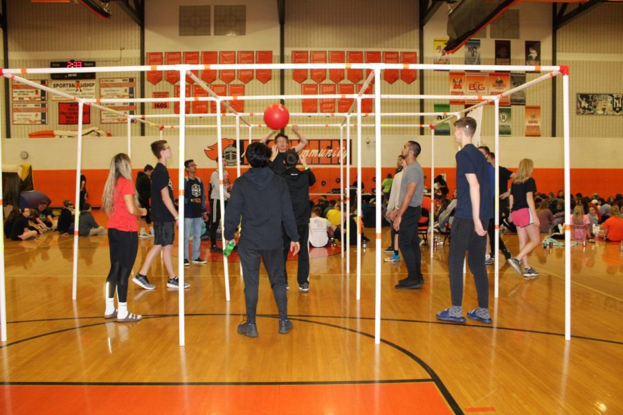 The Big Gym had games for students such as Nine-Square.