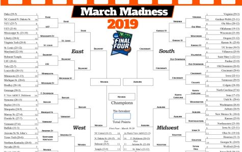 NCAA March Madness mascot bracket