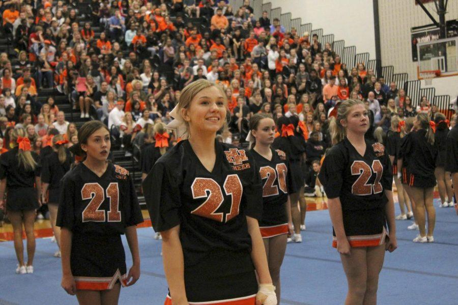 Freshman year cheerleading