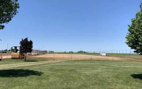 Tennis courts construction underway on June 10, 2019.