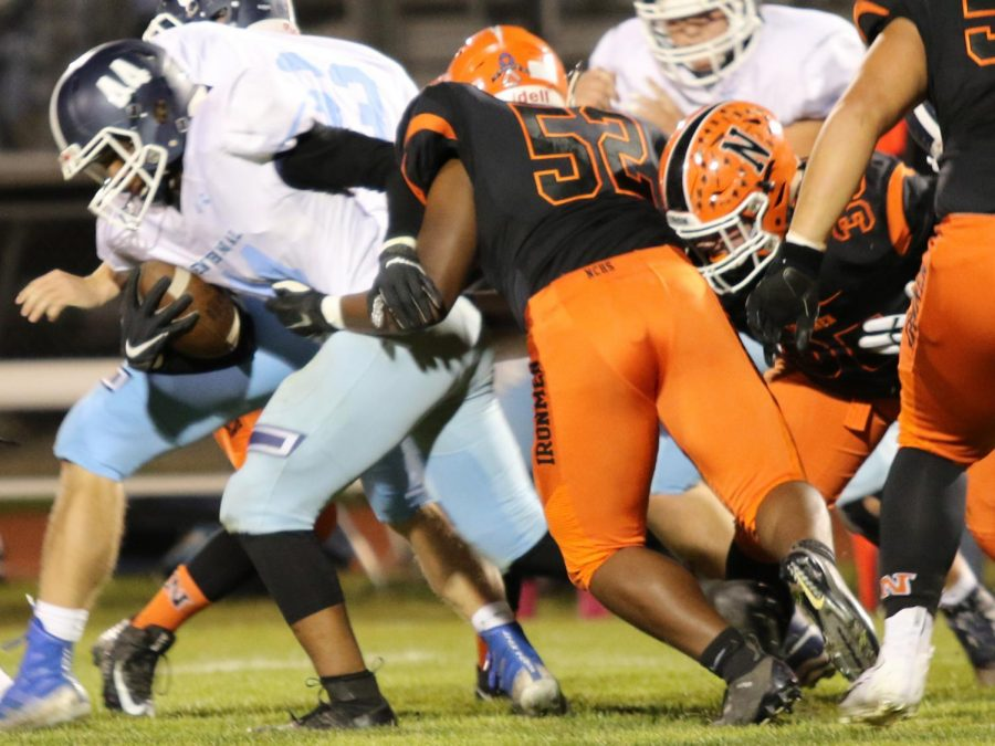 The Ironmen defense was able to hold Centennial scoreless the first half of the game.