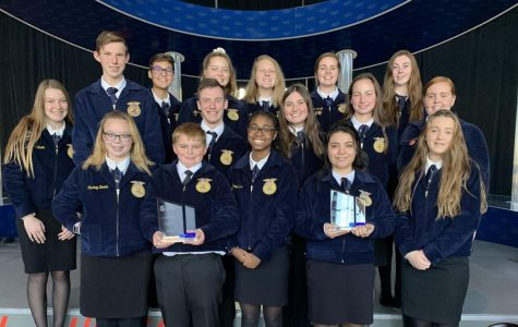 FFA members pose with their award.