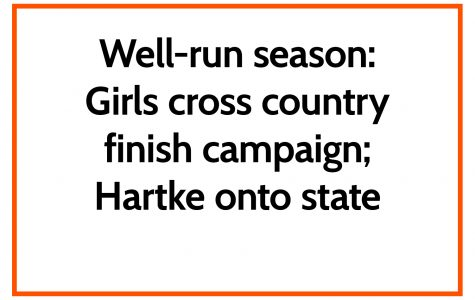 Well-run season: Girls cross country finish campaign; Hartke onto state