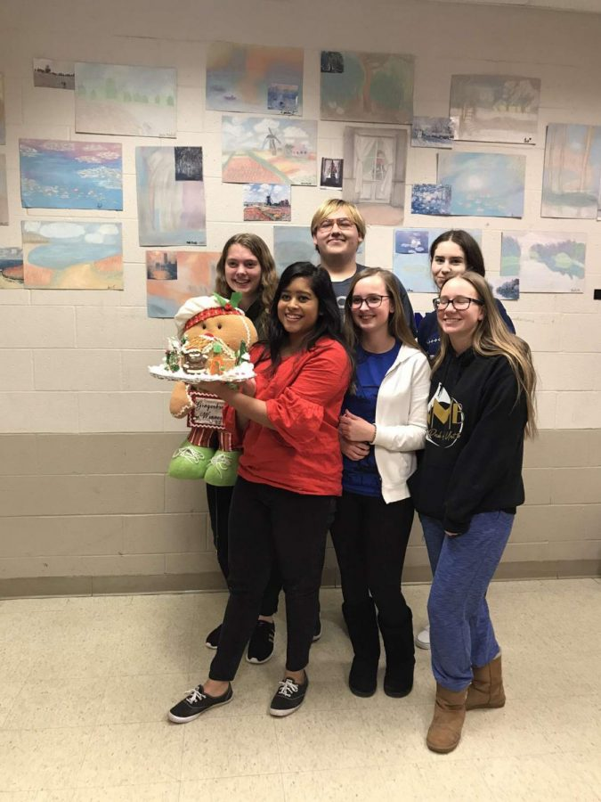 Back row (left to right): Elise Ziemer, Zach Holliday, Lauren Kelly Front row (left to right): Reeba Quraishi, Eliza Goodwin, Amanda Carlson