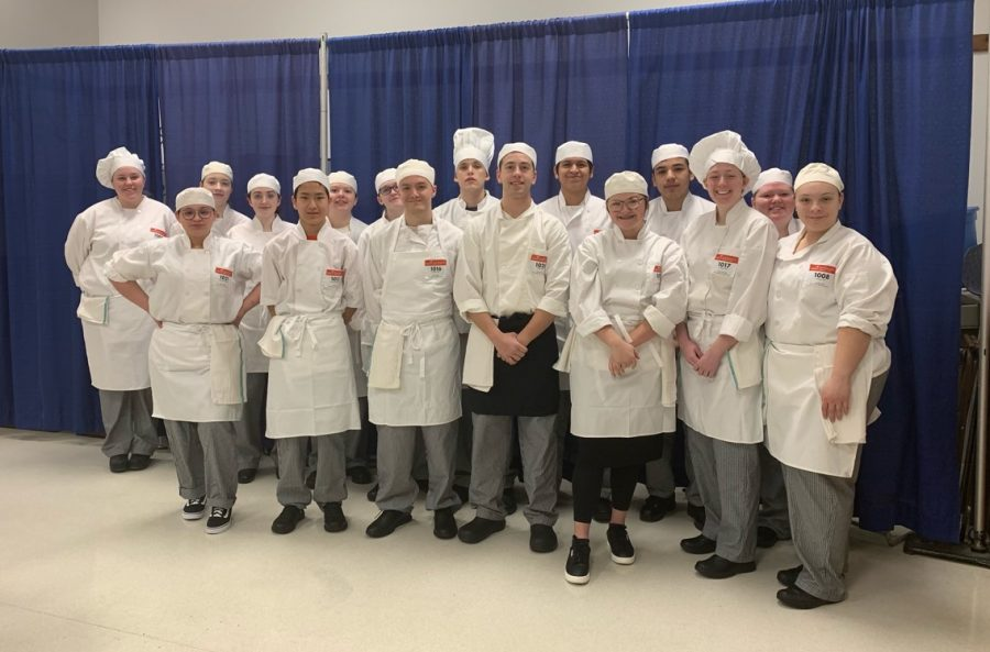 Bloomington Area Career Center Culinary Arts students gathered together before they began their Regional events.