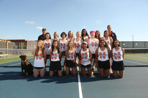 The 2020 Lady Iron varsity tennis team heads into Senior Night play with a team record of 7-1.