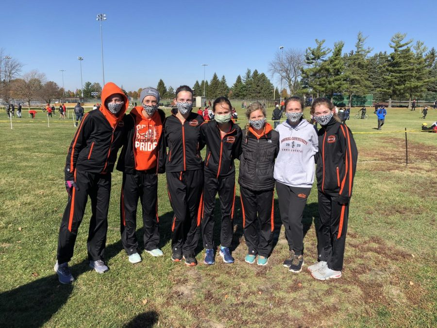 The Normal Community girls cross country team finished in 3rd place at the IHSA Sectional -- the best 3A team finish in school history. Freshmen Ali Ince was the Sectional champion with a time of 17:46.61.