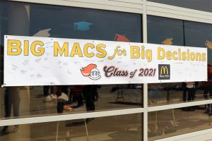 Counselors hosted a drive-thru Decision Day April 30 for all seniors -- remote and in-person -- to declare their post-secondary plans.